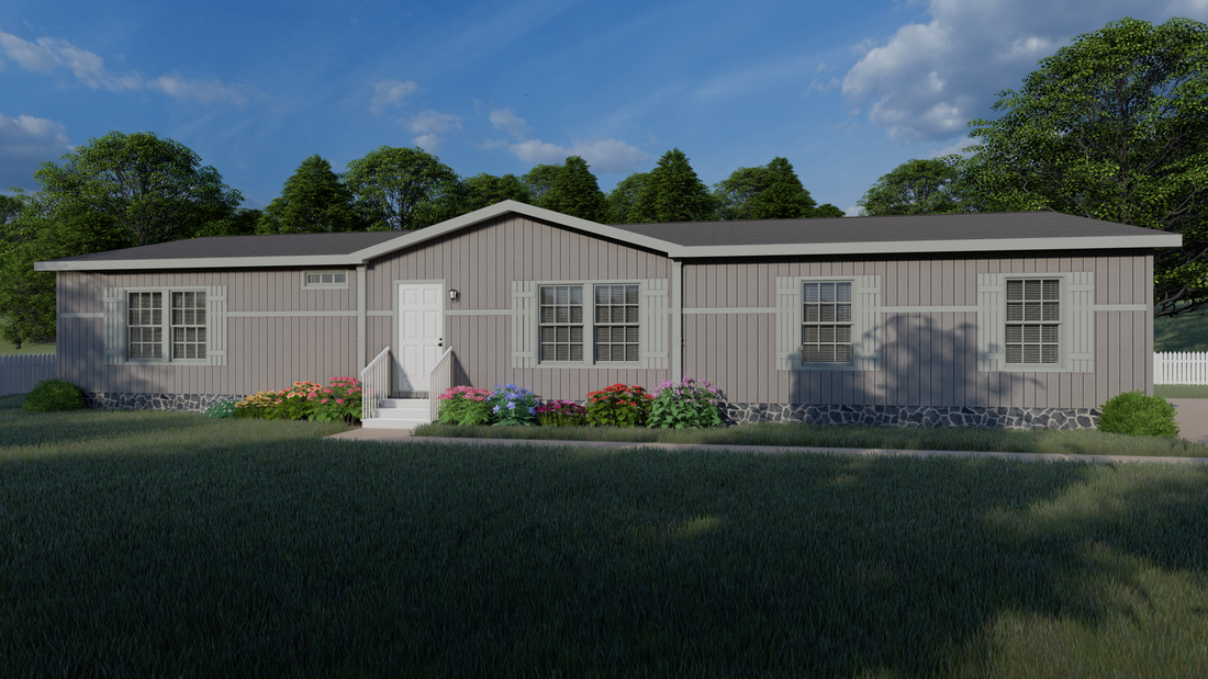 The THE NEWPORT 32 Exterior. This Manufactured Mobile Home features 4 bedrooms and 2 baths.