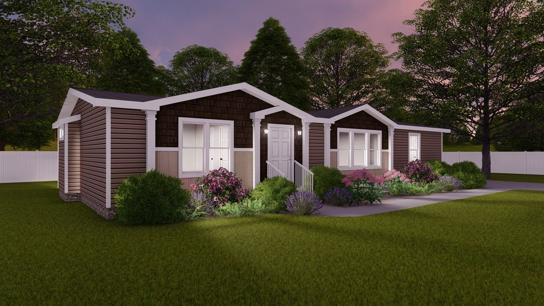 THE WASHINGTON Exterior. This Manufactured Mobile Home features 3 bedrooms and 2 baths.