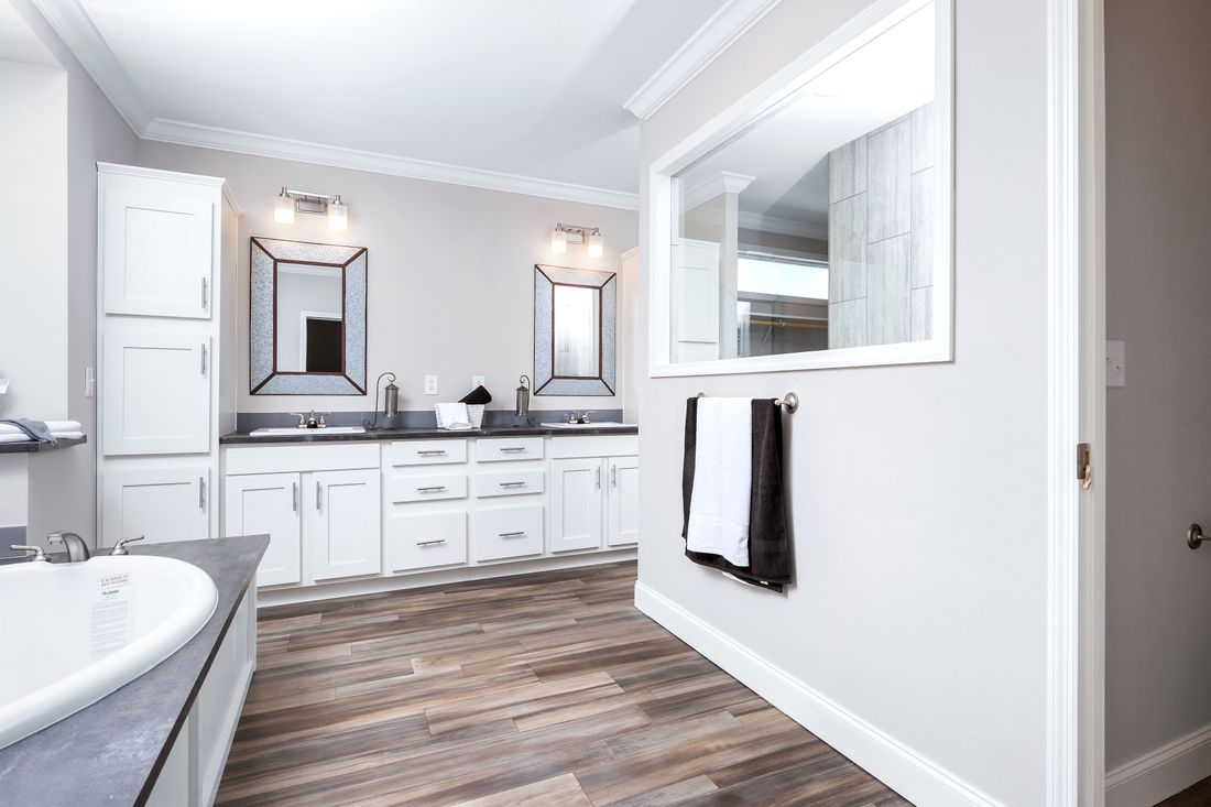 The THE ST AUGUSTINE Master Bathroom. This Manufactured Mobile Home features 3 bedrooms and 2 baths.