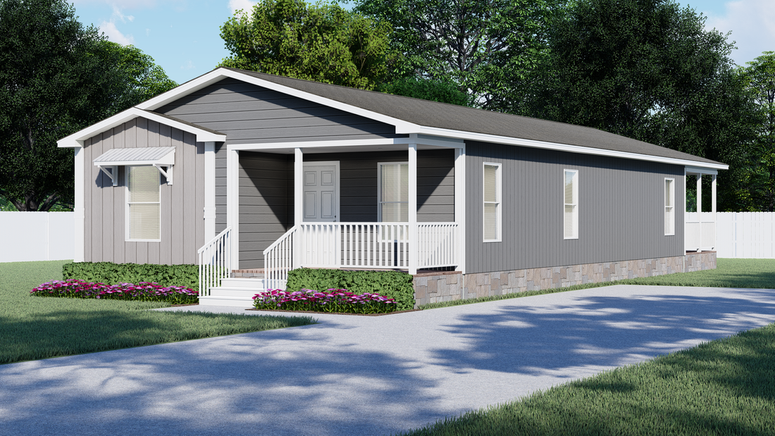 The THE NICKLAUS Exterior. This Manufactured Mobile Home features 3 bedrooms and 2 baths.