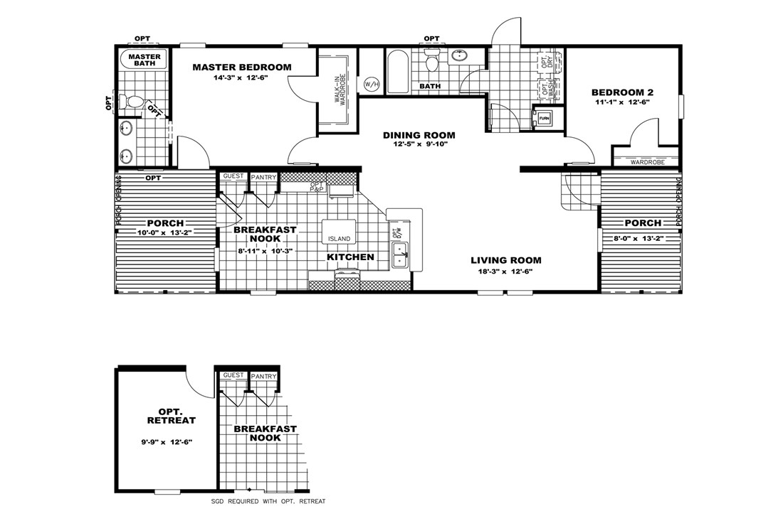The THE WATSON 28 Floor Plan