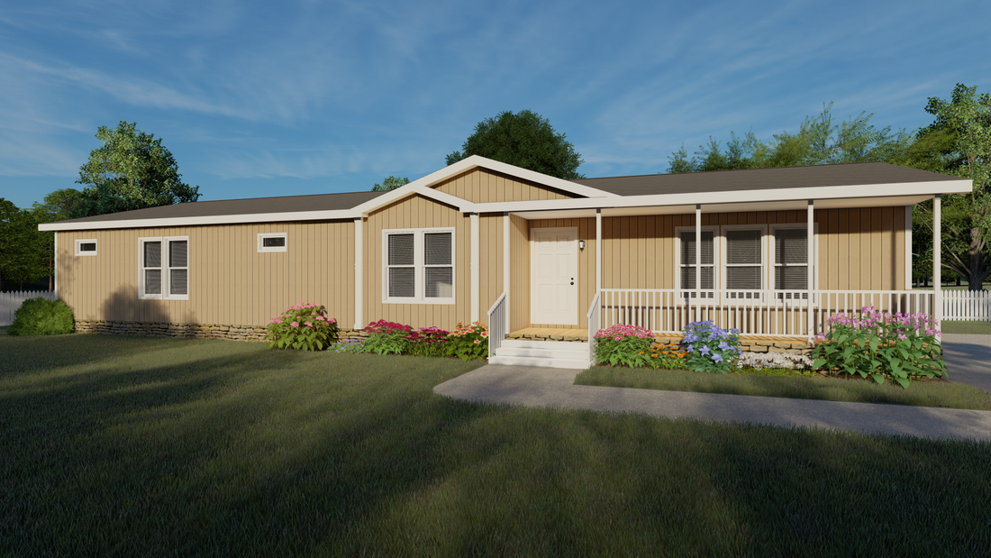 The THE SNEAD Exterior. This Manufactured Mobile Home features 3 bedrooms and 2 baths.