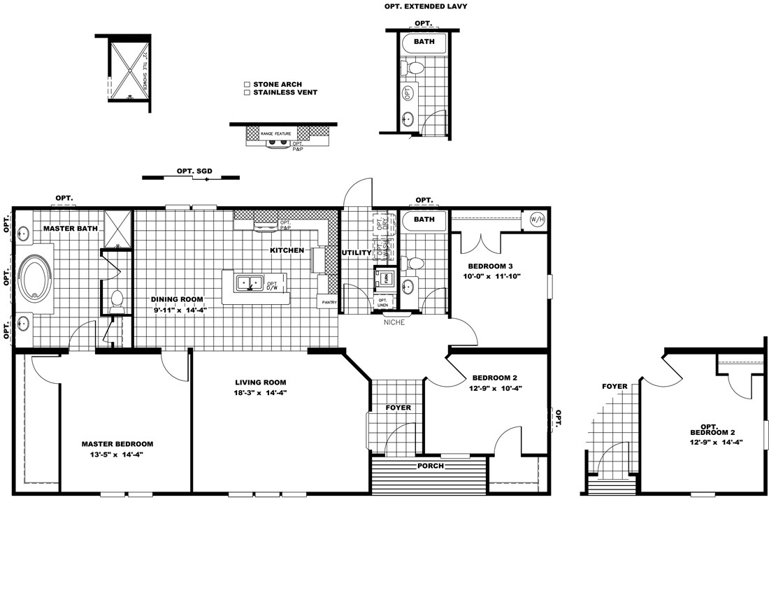 The THE WILLIAMSBURG 32 Floor Plan