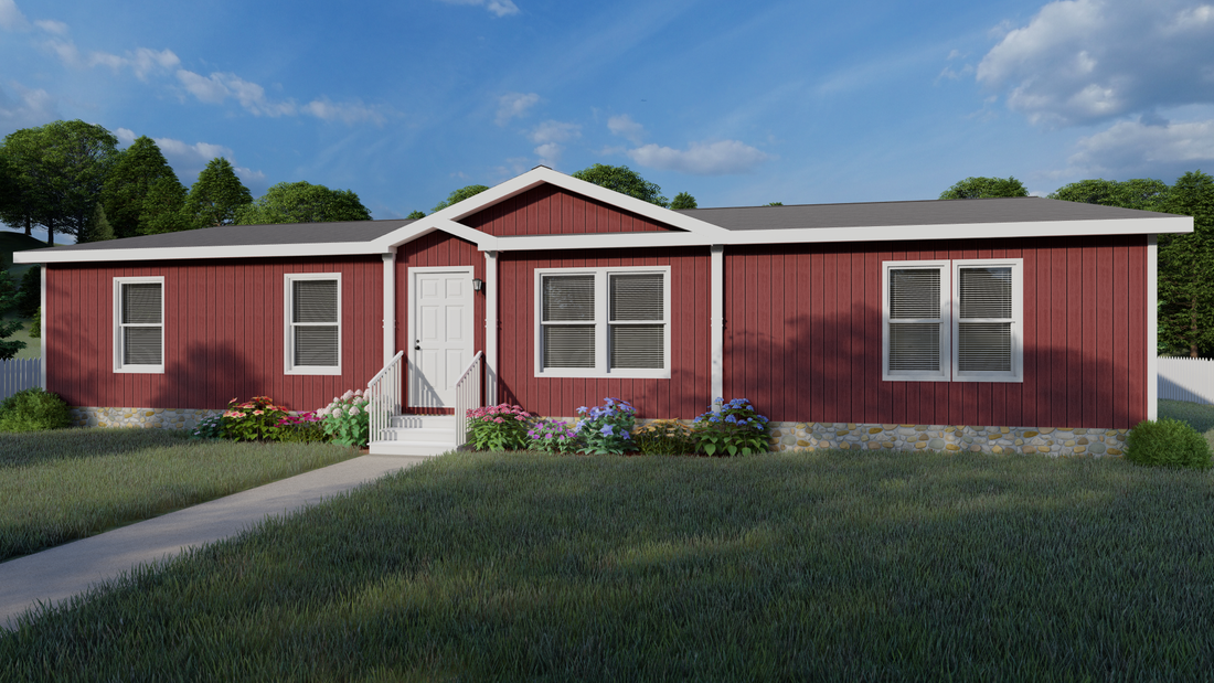 The THE SHILOH Exterior. This Manufactured Mobile Home features 4 bedrooms and 2 baths.