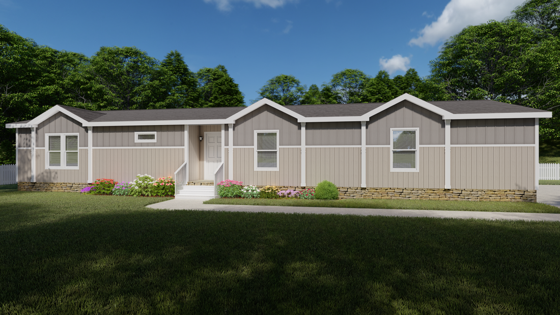 The THE TYLER Exterior. This Manufactured Mobile Home features 3 bedrooms and 2 baths.