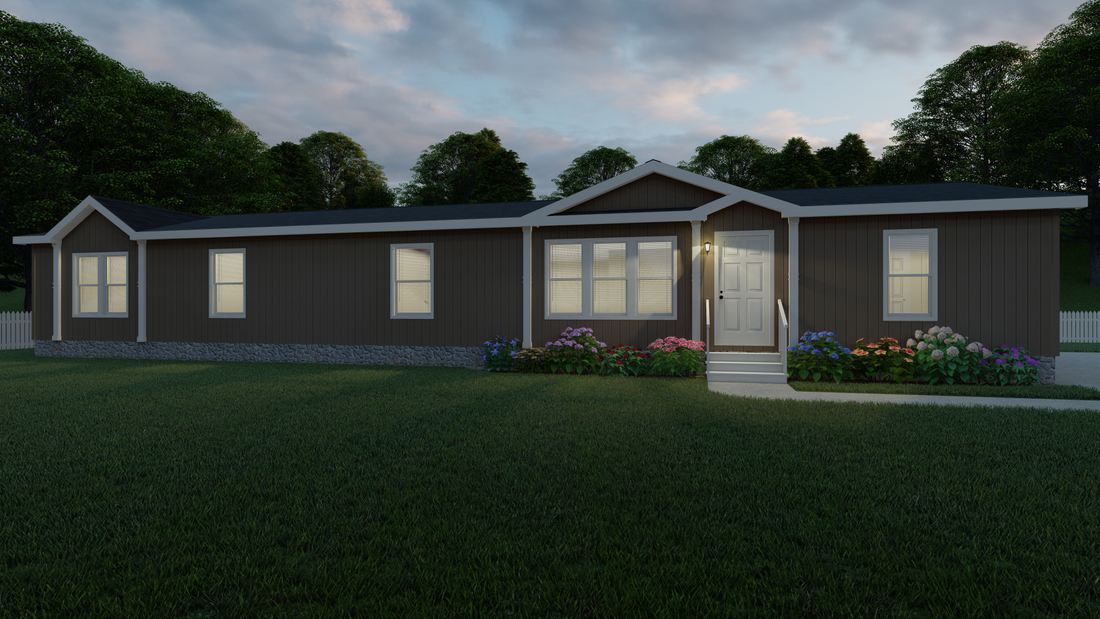 The THE CHARLESTON Exterior. This Manufactured Mobile Home features 3 bedrooms and 2 baths.