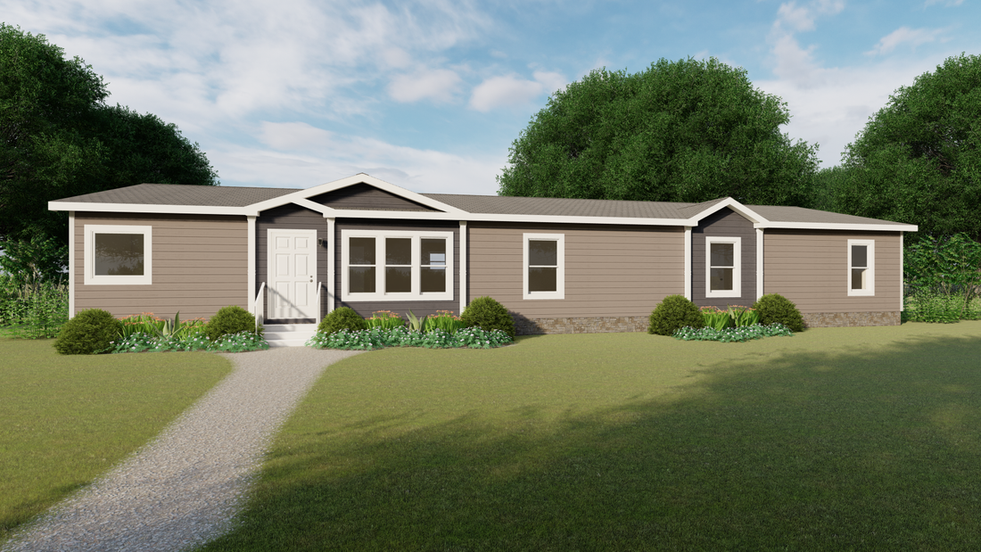 The THE SAVANNAH Exterior. This Manufactured Mobile Home features 4 bedrooms and 3 baths.